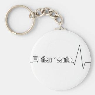 Enfermerito key ring basic round button key ring