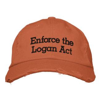 Enforce The Logan Act Embroidered Baseball Caps
