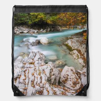 Eng valley in Karwendel range Drawstring Bags
