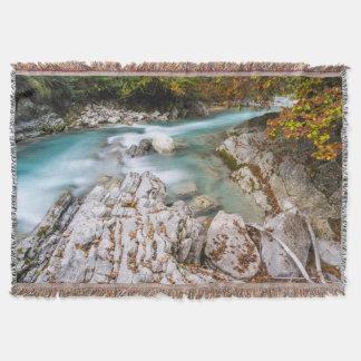 Eng valley in Karwendel range Throw Blanket