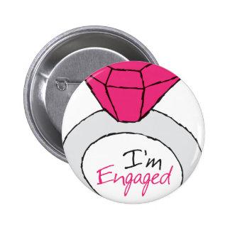 Engaged 6 Cm Round Badge