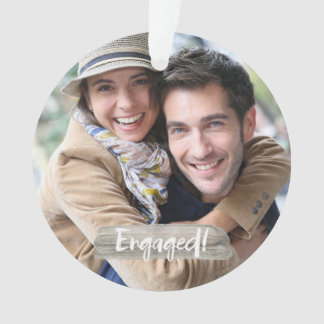 Engaged at Christmas Ornament