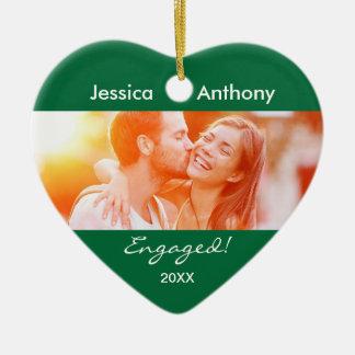 Engaged Christmas Photo Ornament
