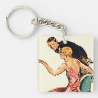 Engaged Couple Key Ring