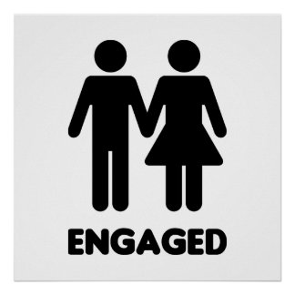 Engaged Couple Poster