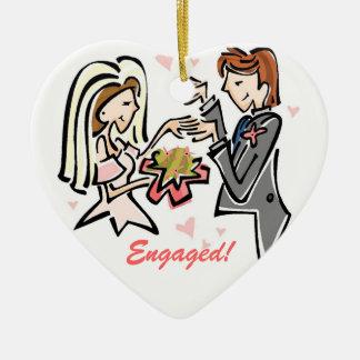 Engaged Customized Wedding Keepsake Christmas Ornament