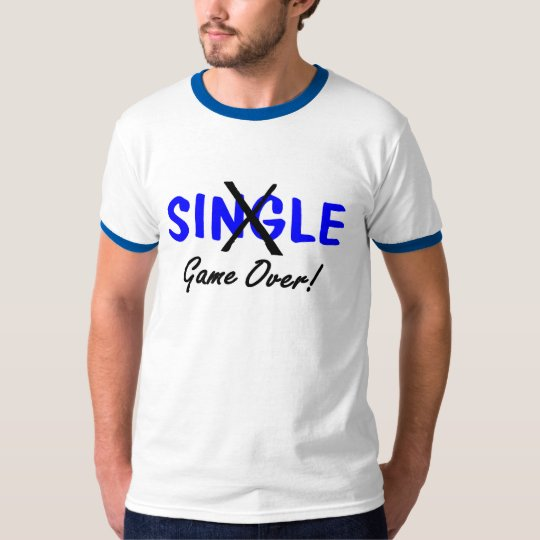 Engaged Game Over Blue T-Shirt