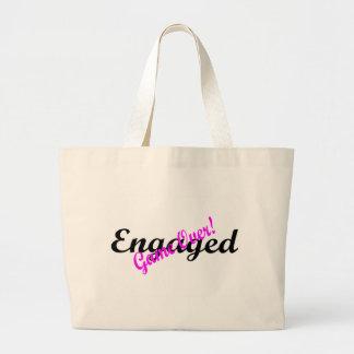 Engaged Game Over Jumbo Tote Bag