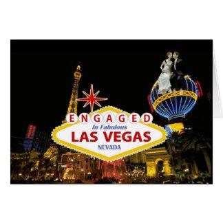 ENGAGED In Fabulous Las Vegas B & G Card