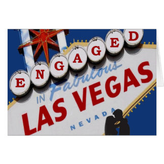 ENGAGED IN FABULOUS LAS VEGAS Card