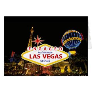 ENGAGED In Fabulous Las Vegas Card