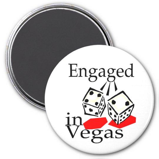 Engaged In Vegas 7.5 Cm Round Magnet