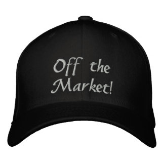 Engaged! Off the Market! Embroidered Baseball Caps