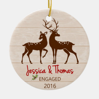 Engaged Personalised ornament