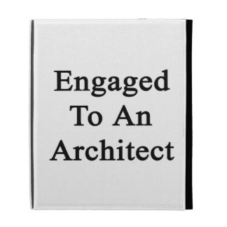 Engaged To An Architect iPad Folio Cover