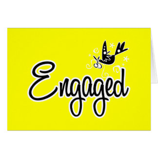 Engaged-Yellow Greeting Card