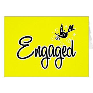 Engaged-Yellow Greeting Card