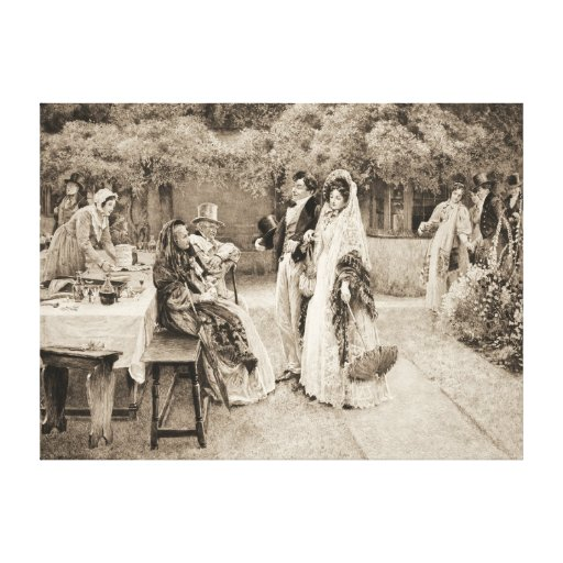 Engagement Announcement 1898 Gallery Wrap Canvas