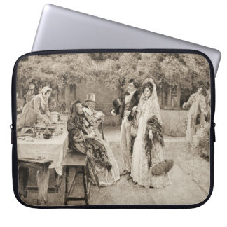 Engagement Announcement 1898 Laptop Computer Sleeves