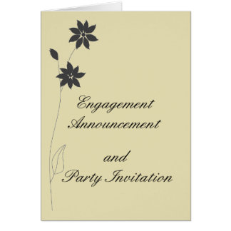 Engagement Announcement, and Party RSVP Greeting Card
