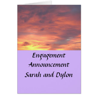 Engagement announcement greeting card