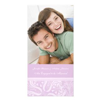 Engagement Announcement Photo Card Lavender Floral