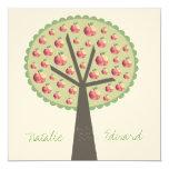 Engagement Apple Tree Love Carving Invitation