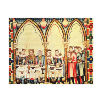 Engagement Banquet, from the manuscript Canvas Print