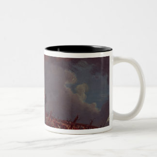 "Engagement between the ""Quebec"" Two-Tone Coffee Mug"
