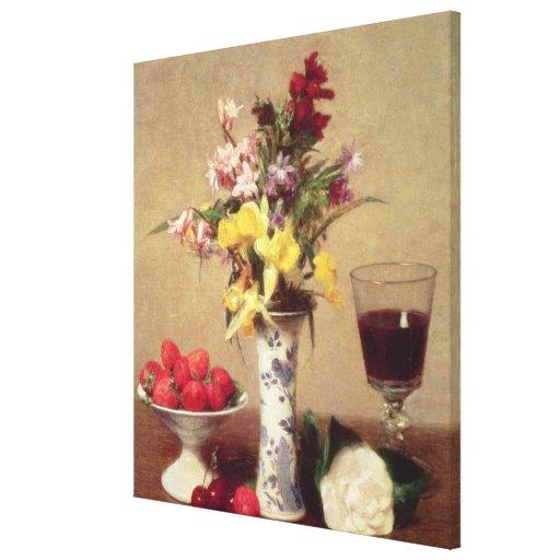 Engagement Bouquet Stretched Canvas Prints