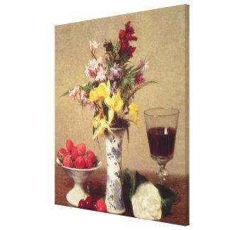 Engagement Bouquet Stretched Canvas Print