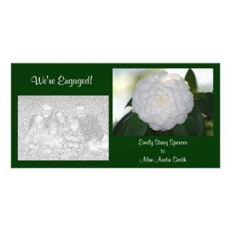 Engagement Camellia Photo Cards
