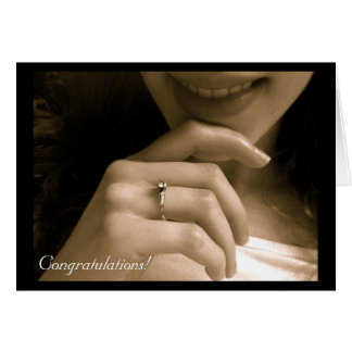 Engagement Congratulations Stationery Note Card