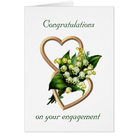 Engagement Congratulations with lilies Card