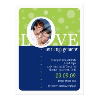 ENGAGEMENT INVITATION :: LOVEbubbles 10 Postcard