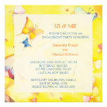 Engagement Invitations: Colourful Butterflies