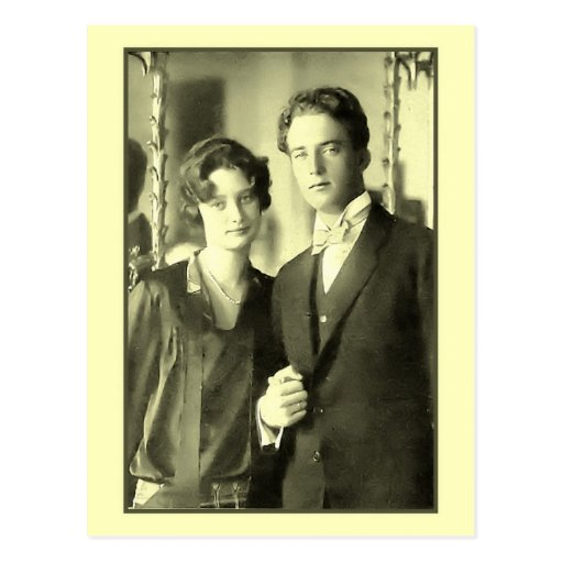 Engagement of Princess Astrid and Prince Leopold Postcard