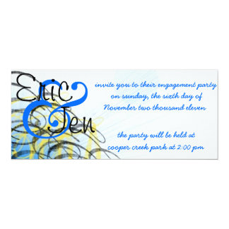 engagement party invitaion 10 cm x 24 cm invitation card