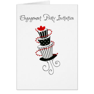 engagement party invitation cake card