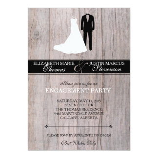 Engagement Party Invitation - Rustic Chic