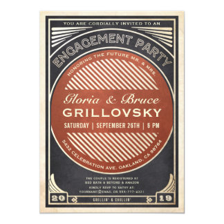 Engagement Party Invitations BBQ