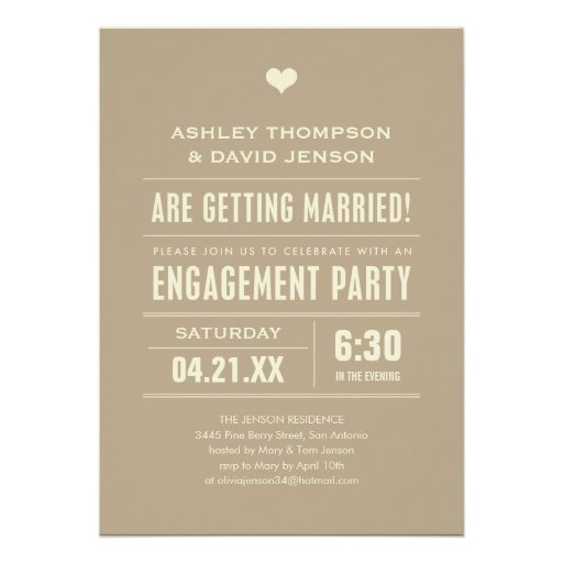 Engagement Party Invites