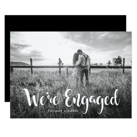 Engagement Party | Photo with Modern White Overlay
