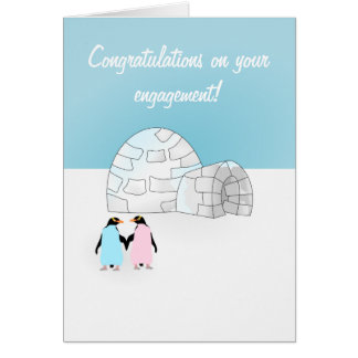 Engagement Penguin card