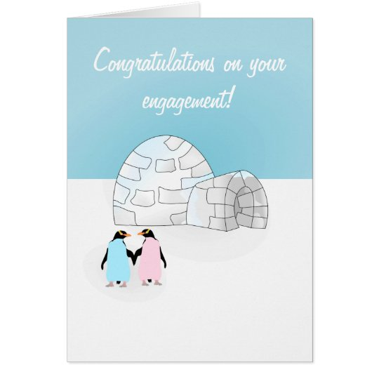 Engagement Penguin card