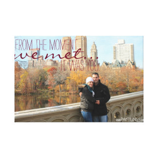 Engagement Photo Love Quote Stretched Canvas Print