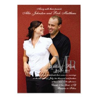 Engagement Photo Modern Wedding Invitations