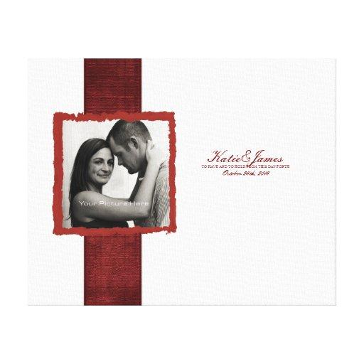 Engagement Photo Rustic Christmas Wedding Canvas Print