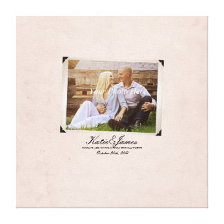 Engagement Photo Rustic Vintage Wedding Gallery Wrapped Canvas