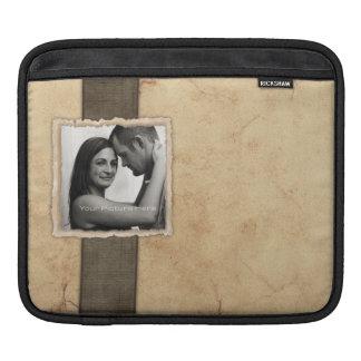 Engagement Photo Rustic Vintage Wedding iPad Sleeve